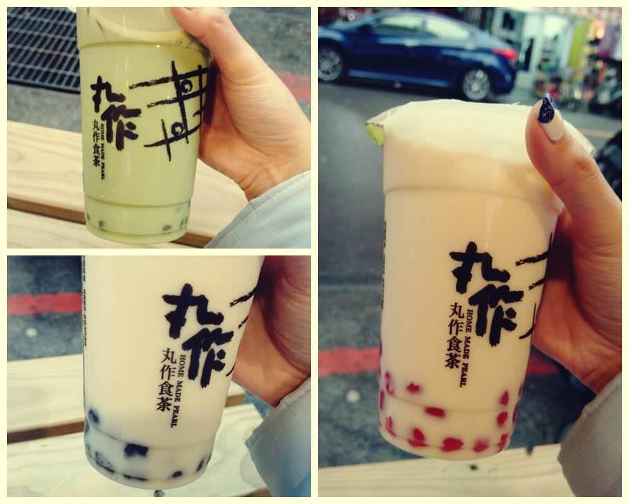 【食記-內湖】繽紛珍珠奶茶♥從台南紅到台北來的丸作食茶!同場加映微笑紅豆餅!都在內湖路一段737巷唷!
