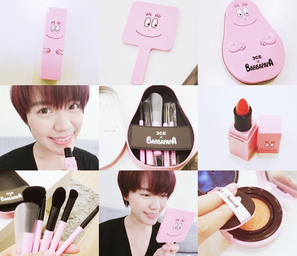 【彩妝戰利品】都是粉紅色!超可愛的~ 3CE X 泡泡先生BARBAPAPA聯名彩妝