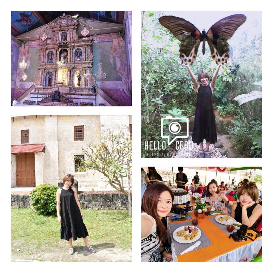 【菲律賓-宿霧薄荷島】景點一日遊!巴卡容教堂/漂流竹筏屋/眼鏡猴/蝴蝶園/巧克力山!