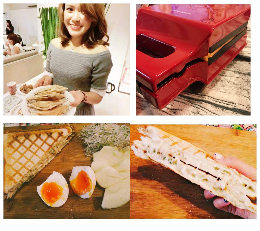 【戰利品開箱文】我的宅女日記!不用出門在家追劇自己做熱壓吐司早餐!recolte 日本麗克特格子三明治機
