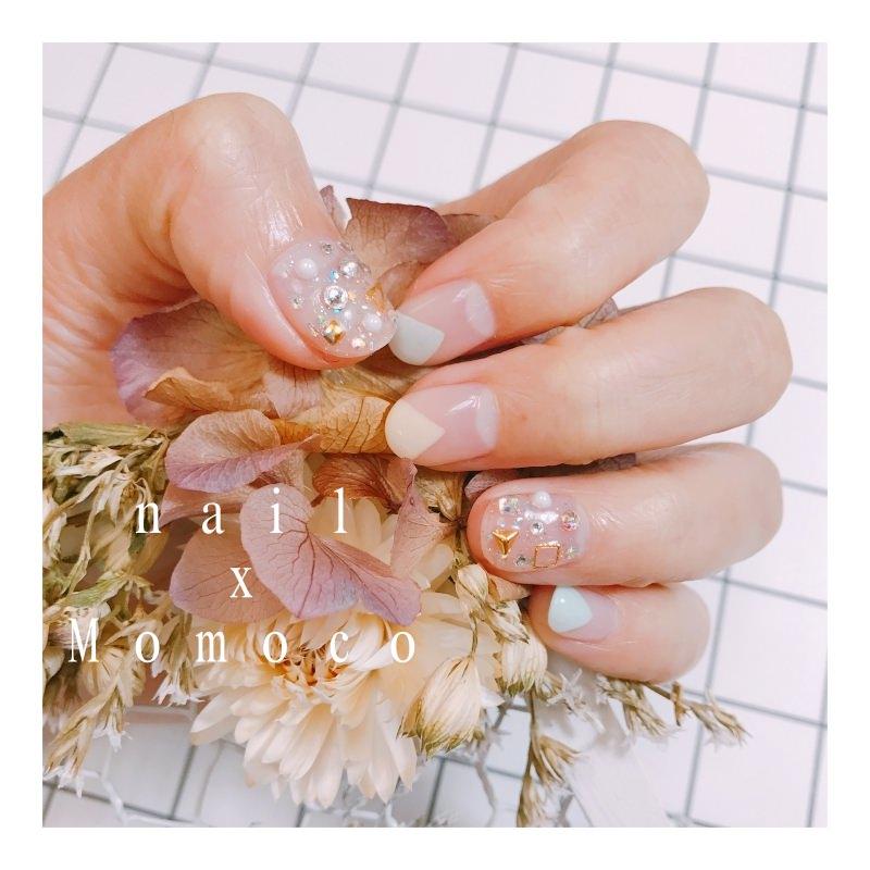 【光療】充滿春天感覺的可愛三角形!