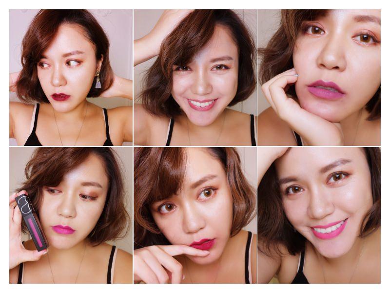 毛摳的彩妝日記 – NARS唇釉「特霧唇誘(Powermatte Lip Pigment)」6色試色來也~