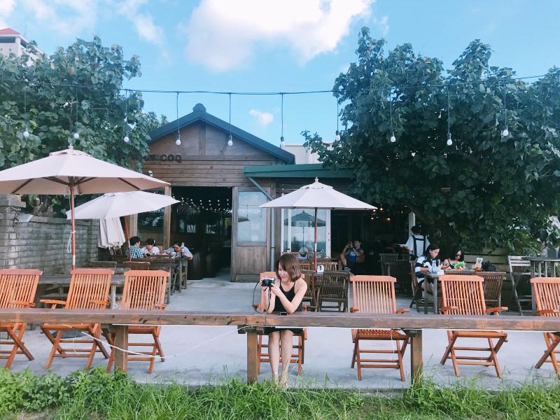 三芝淺水灣咖啡廳 – Le Coq 公雞咖啡!彷彿瞬間到了海島度假~