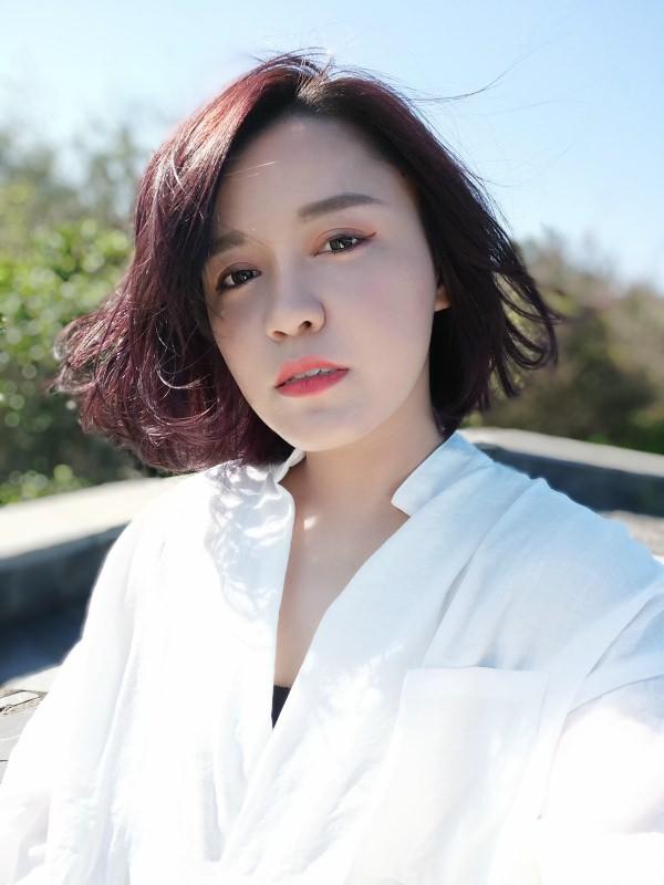 【髮型】淡水-99% Hair Salon!超有質感的霧面莓果紫~
