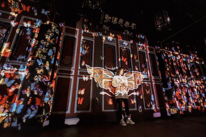 好浪漫!板橋林家花園 – 蝶舞光綴光雕秀 | 每週五週六晚上限定點燈活動!