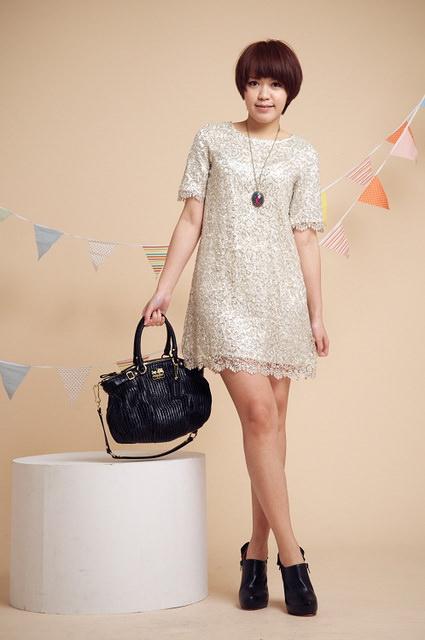 【戰利品】難得在淘寶買的高單價單品♥蕾絲亮片洋裝
