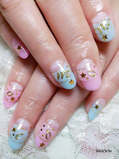 【光療】螢光粉嫩色♥momoco字母版