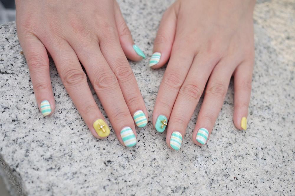 【光療】陽光可愛的新指彩♥