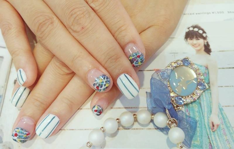 【指甲】近期的光療小日記♥月光石+沖繩海洋風的2款小分享!