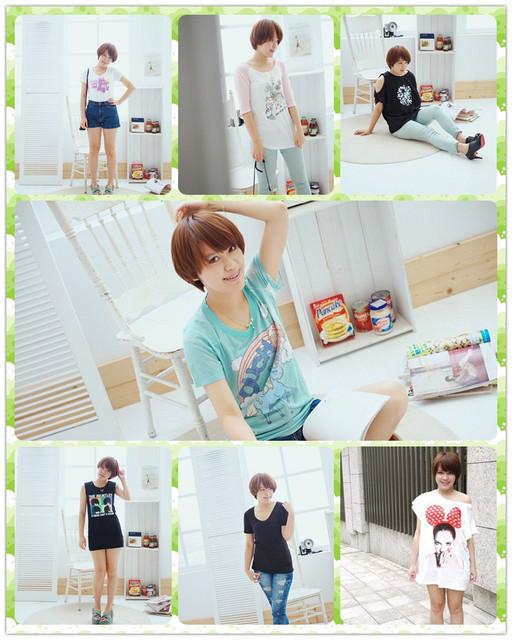【穿搭】夏日就是要穿T恤♥清爽LOOK一周間